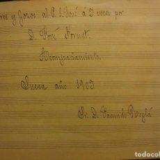 Partituras musicales: DOLORES Y GOZOS A S. JOSE D J FORNET SUECA 1903 FACUNDO ROGLA PARTITUA MANUSCRITA ANTIGUA . Lote 115277887