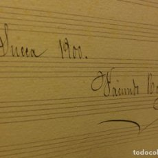 Partituras musicales: PARTITURA MANUSCRITA INEDITA TRISAGIO STMA TRINIDAD V. PERALES FIRMADO FACUNDO ROGLA 1900 SUECA. Lote 57083071