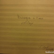 Partituras musicales: TRISAG. A 3 SACRAMENTO F PAYÁ SUECA FACUNDO ROGLA PARTITUA MANUSCRITA RELIGIOSA ANTIGUA 1888. Lote 115431923