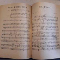 Partituras musicais: CANCIONES FOLK VASCONGADAS. PARTITURAS ANTIGUAS ENCUADERNADAS. MÚSICA CLÁSICA.. Lote 115682948