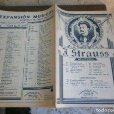 Partituras musicales: J. STRAUSS. Lote 115693259