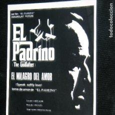 Partituras musicales: F1 PARTITURA DEL PADRINO EL MILAGRO DEL AMOR SPEAK SOFTLY LOVE.AÑO 1972 CIFRADO PARA GUITARRA . Lote 115936779
