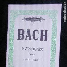 Partituras musicales: F1 PARTITURA BACH INVENCIONES PIANO EDICION COMPLETA. Lote 116198587