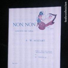 Partituras musicales: F1 PARTITURA NON NON CANCION DE CUNA A.W. MOZART ARREGLO FACIL PARA PIANO POR M.TERGELA . Lote 116201307