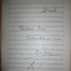Partituras musicales: VALENCIA 1916 PARTITURAS MANUSCRITAS DAMA PERSA JOSE BORRERO PARA BANDA. Lote 104011047