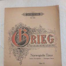 Partituras musicales: GRIEG. NORWEGISCHE TÄNZE. OPUS 35.. Lote 116339748