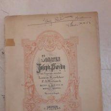 Partituras musicales: JOSEPH VON HAYDN. SONATA. PETERS. PARTITURA.. Lote 116344360