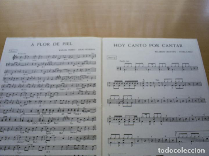 Partituras musicales: PARTITURA JULIO IGLESIAS - A FLOR DE PIEL / HOY CANTO POR CANTAR - NYDIA CARO - 1º PREMIO OTI 74 - Foto 2 - 116346055