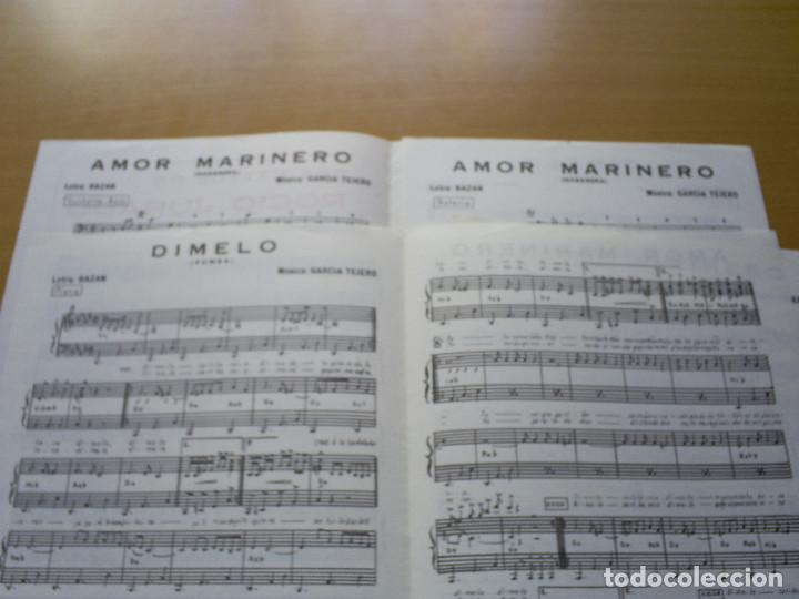 Partituras musicales: PARTITURA ROCIO JURADO 2 CANCIONES AMOR MARINERO / DIMELO - BAZAN , GARCIA TEJERO - Foto 2 - 116351247