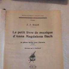 Partituras musicales: J.S.BACH Y HÄNDEL. PIANO A 2 MANOS. PARTITURAS ANTIGUAS ENCUADERNADAS.. Lote 116438742