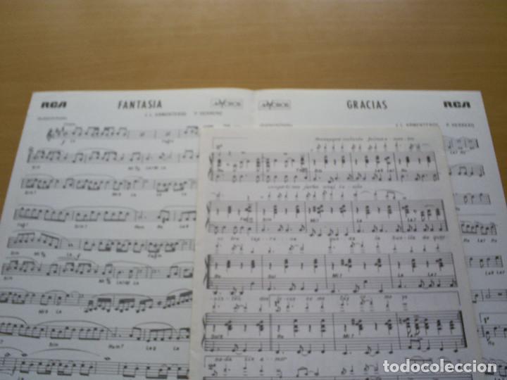 Partituras musicales: PARTITURA - JUAN BAU - 2 CANCIONES : FANTASÍA / GRACIAS - J.L. ARMENTEROS , P. HERRERO - Foto 2 - 116450555