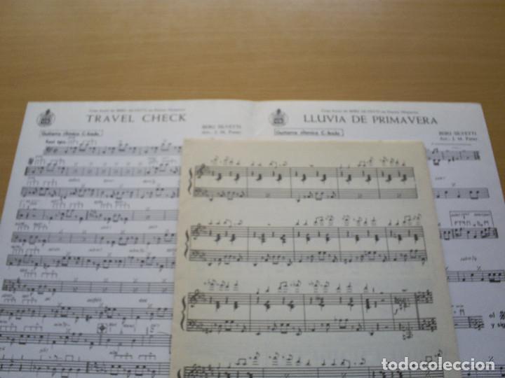 Partituras musicales: PARTITURA - BEBU SILVETTI - 2 CANCIONES : TRAVEL CHECK / LLUVIA DE PRIMAVERA - J.M. PATER / HISPAVOX - Foto 2 - 116451111
