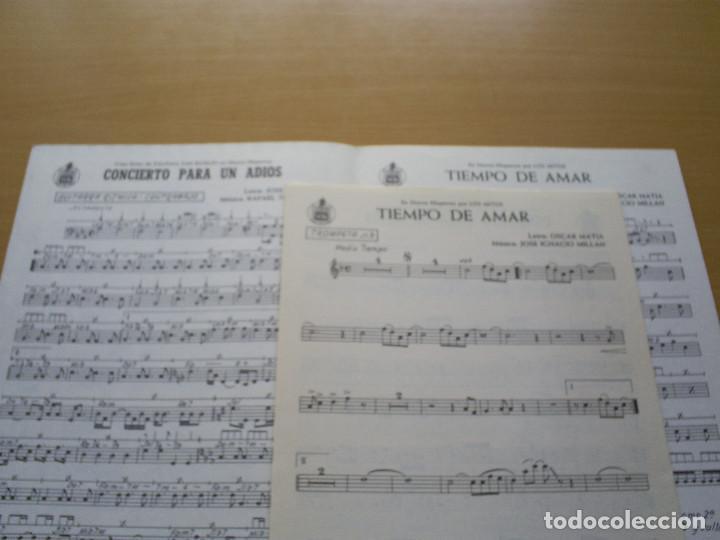 Partituras musicales: PARTITURA - PALOMA SAN BASILIO : CONCIERTO PARA UN ADIOS / LOS MITOS : TIEMPO DE AMAR / HISPAVOX - Foto 2 - 116451719