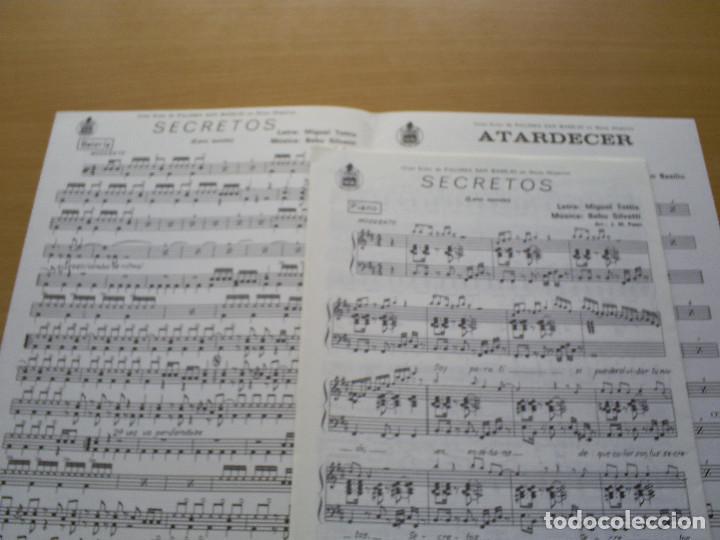Partituras musicales: PARTITURA - PALOMA SAN BASILIO : SECRETOS ( LOVE SECRETS ) / ATARDECER - TOTTIS, SILVETTI / HISPAVOX - Foto 2 - 116452183
