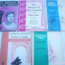 Partituras musicales: PARTITURA MÚSICA, LECCIONES. LOTE DE 5: JOAN BROOKS, PIANO DUETS, PIANO STUDENT, PIANO COURSE, CHRIS. Lote 116705087