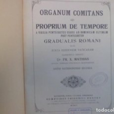 Partituras musicales: PARTITURA DE ORGANO RELIGIOSA A. 1.920. Lote 116792859