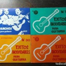 Partituras musicales: 3 LIBROS DE EXITOS INOLVIDABLES PARA GUITARRA. 1 LIBRO DE LOS PANCHOS. Lote 191758206