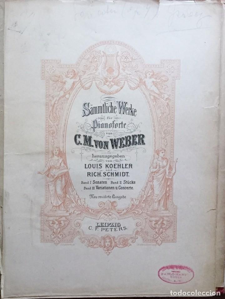 PARTITURA- C.M. VON WEBER- LEIPZIG- C.F. PETERS (Música - Partituras Musicales Antiguas)