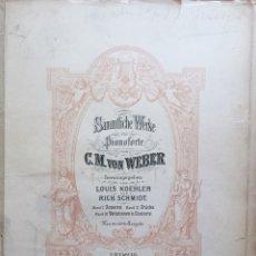 Partituras musicales: PARTITURA- C.M. VON WEBER- LEIPZIG- C.F. PETERS. Lote 117216235