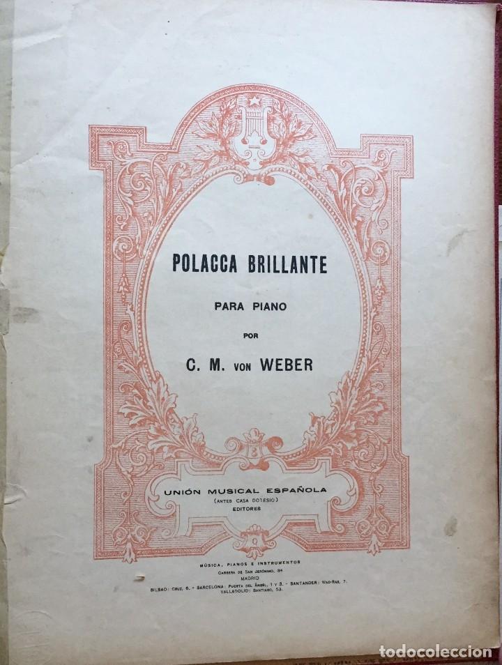 Partituras musicales: PARTITURA- C.M. VON WEBER- LEIPZIG- C.F. PETERS - Foto 2 - 117216235