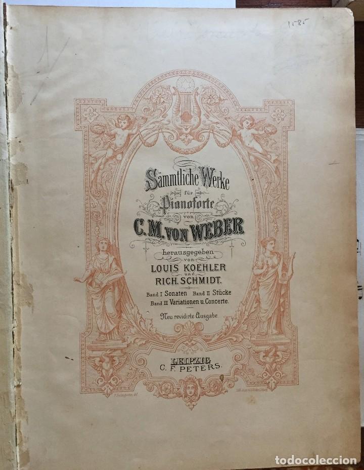 Partituras musicales: PARTITURA- C.M. VON WEBER- LEIPZIG- C.F. PETERS - Foto 5 - 117216235