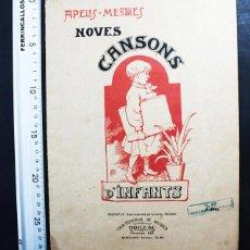 Partituras musicales: NOVES CANSONS D'INFANTS, APELES MESTRES, BOILEAU BARCELONA, EN CATALAN 16 PAG, EN CATALAN, MUY RARO. Lote 117310035