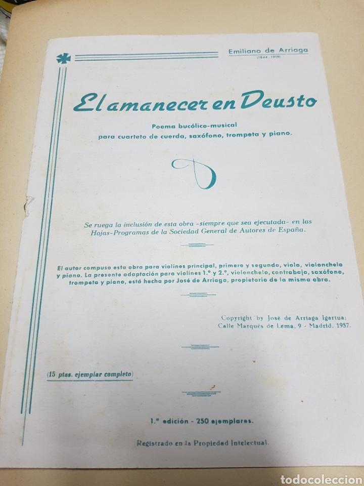 EL AMANECER EN DEUSTO, POEMA BUCÓLICO-MUSICAL, EMILIANO DE ARRIAGA, 1ªEDICIÓN, UNICO!! (Música - Partituras Musicales Antiguas)