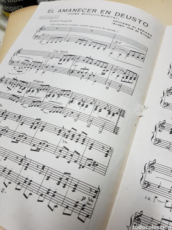 Partituras musicales: EL AMANECER EN DEUSTO, POEMA BUCÓLICO-MUSICAL, EMILIANO DE ARRIAGA, 1ªEDICIÓN, UNICO!! - Foto 3 - 118306347
