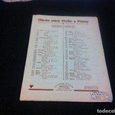 Partituras musicales: PARTITURA MÚSICA (OBRAS PARA VIOLÍN Y PIANO) HÄNDEL. LARGO. VIOLIN. Lote 118828051