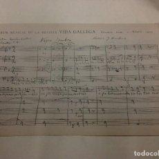 Partituras musicales: FACSIMIL PARTITURA NEGRA SOMBRA. VIDA GALLEGA. LUGO. GALICIA. . Lote 119028827