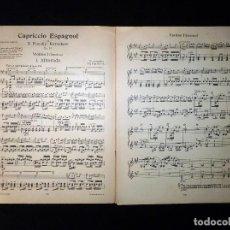 Partituras musicales: PARTITURA CAPRICCIO ESPAGNOL. N. RIMSKY KORSAKOW. VIOLINO I (DIRECTION). BELAIEF, LEIPZIG. GERMANY. . Lote 119264163