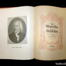 Partituras musicales: ESTUDIOS PARA PIANO, IGNAZ MOSCHELES, OP. 70. EL CLAVE BIEN TEMPERADO, J.S. BACH. PETERS, 1895-1900. Lote 119265063