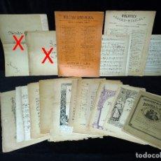 Partituras musicales: COLECCIÓN DE +15 PARTITURAS DE MÚSICA SACRA DE VARIAS EDITORIALES, PARTES MANUSCRITAS. S. XIX-XX. Lote 53735270