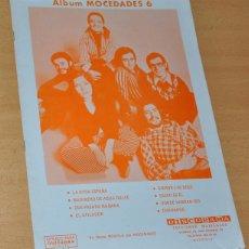 Partituras musicales: CUADERNO DE 8 PARTITURAS DE TEMAS DE MOCEDADES - DISCORAMA EDICIONES MUSICALES 1977. Lote 119554747