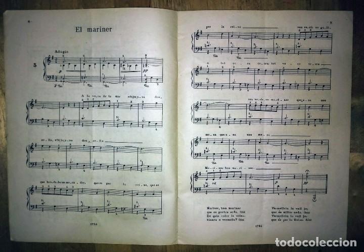 Partituras musicales: Cançons populars catalanes Lluis G Jorda Boileau partitures harmonitzades per a piano amb lletra - Foto 4 - 120139291