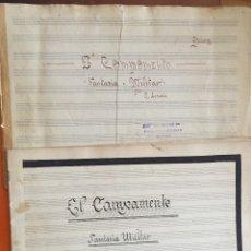 Partituras musicales: PARTITURA MANUSCRITA- EL CAMPAMENTO- FANTASIA MILITAR- R. LOSADA. Lote 120424491