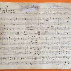 Partituras musicales: PARTITURA MANUSCRITA- SALVE A TRES VOCES- HILARION ESLAVA. Lote 120424587