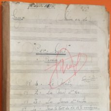Partituras musicales: PARTITURA MANUSCRITA- PER GINT- POEMA- GRIEG- J. PLAZA - LARACHE 1.948. Lote 121123463