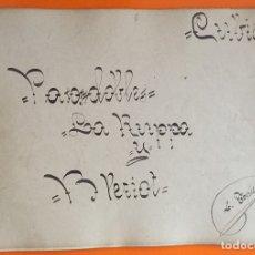Partituras musicales: PARTITURA MANUSCRITA- PASODOBLES- LEANDRO TORRES- BERCELONA. Lote 121124287