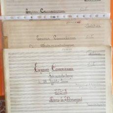 Partituras musicales: PARTITURA MANUSCRITA- EQUISES CAUCASIENNES- IWANOW- ZAMORA 1.934. Lote 121124503
