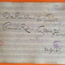 Partituras musicales: PARTITURA MANUSCRITA- PASODOBLES- ANTONIO BOVE- BARCELONA. Lote 121124959