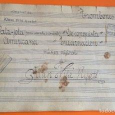 Partituras musicales: PARTITURA MANUSCRITA- VALS JOTA- DE CONQUISTA- ENCARNACION- JUAN VILA AYATS- GRANOLLERS. Lote 121125719
