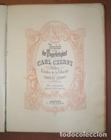 Partituras musicales: ESTUDIOS PARA PIANO. Bertini, Czerny, Dussek, Heller... Partituras (7 obras en 1 vol.). C.1900 - Foto 3 - 122089279