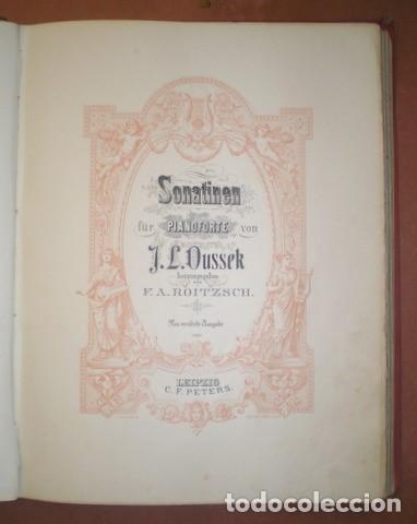 Partituras musicales: ESTUDIOS PARA PIANO. Bertini, Czerny, Dussek, Heller... Partituras (7 obras en 1 vol.). C.1900 - Foto 4 - 122089279