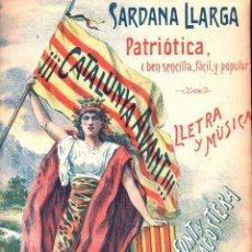 Partituras musicales: FONT Y LLAGOSTERA : CATALUNYA AVANT !!! - SARDANA PATRIÒTICA . Lote 122438455