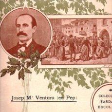Partituras musicales: PEP VENTURA : PER TU PLORO - SARDANA (DALÍ PRESAS, FIGUERES, 1906). Lote 181029270