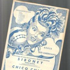 Partituras musicales: SIBONEY ( RUMBA MAMBO ERNESTO LECUONA ) + CHICO CHICO . Lote 122450759