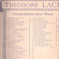 Partituras musicales: THEODORE LACK : VALSE ARABESQUE. Lote 122522407