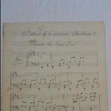 Partituras musicales: ANTIGUA PARTITURA MANUSCRITA.EL SALTIRÓ DE LA CARDINA.SARDANA.VICENÇ BOU.. Lote 122822611