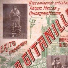 Partituras musicales: RAQUEL MELLER / CANDELARIA MEDINA : LA GITANILLA. Lote 123021591